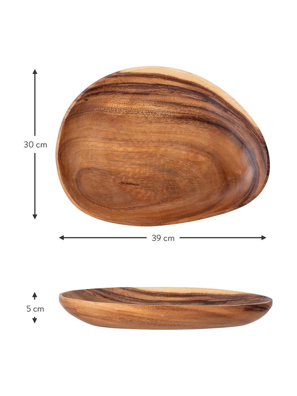 Miska dekoracyjna z drewna akacjowego Lodig, Drewno akacjowe, olejowane, Drewno akacjowe, S 39 x G 30 cm