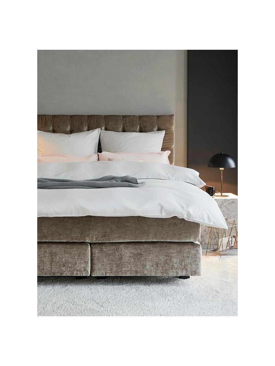 Katoensatijnen dekbedovertrek Comfort, Weeftechniek: satijn, licht glanzend, Wit, 240 x 220 cm