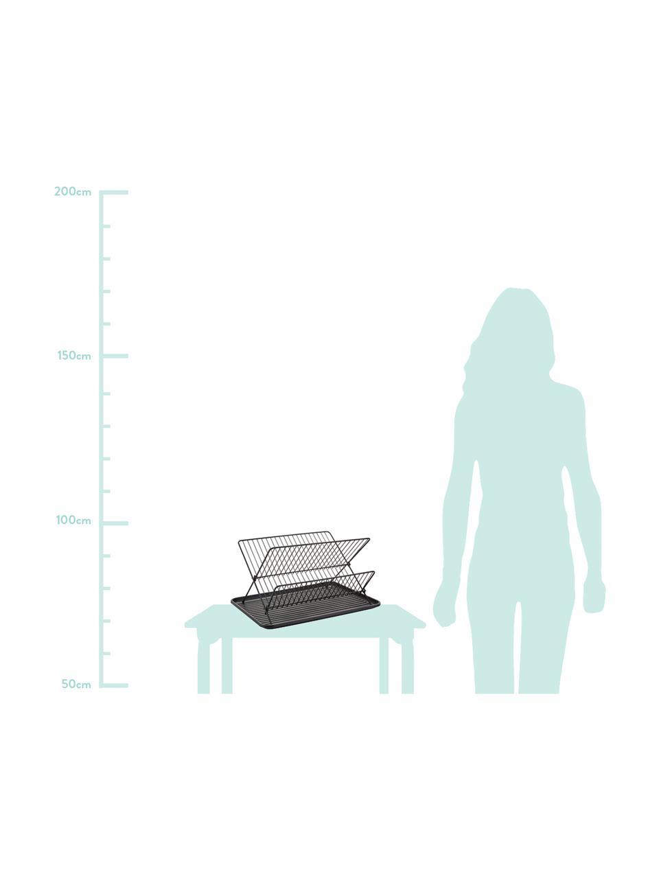 Ociekacz do naczyń Amo, Stelaż: żelazo, powlekany, Czarny, S 43 x W 32 cm