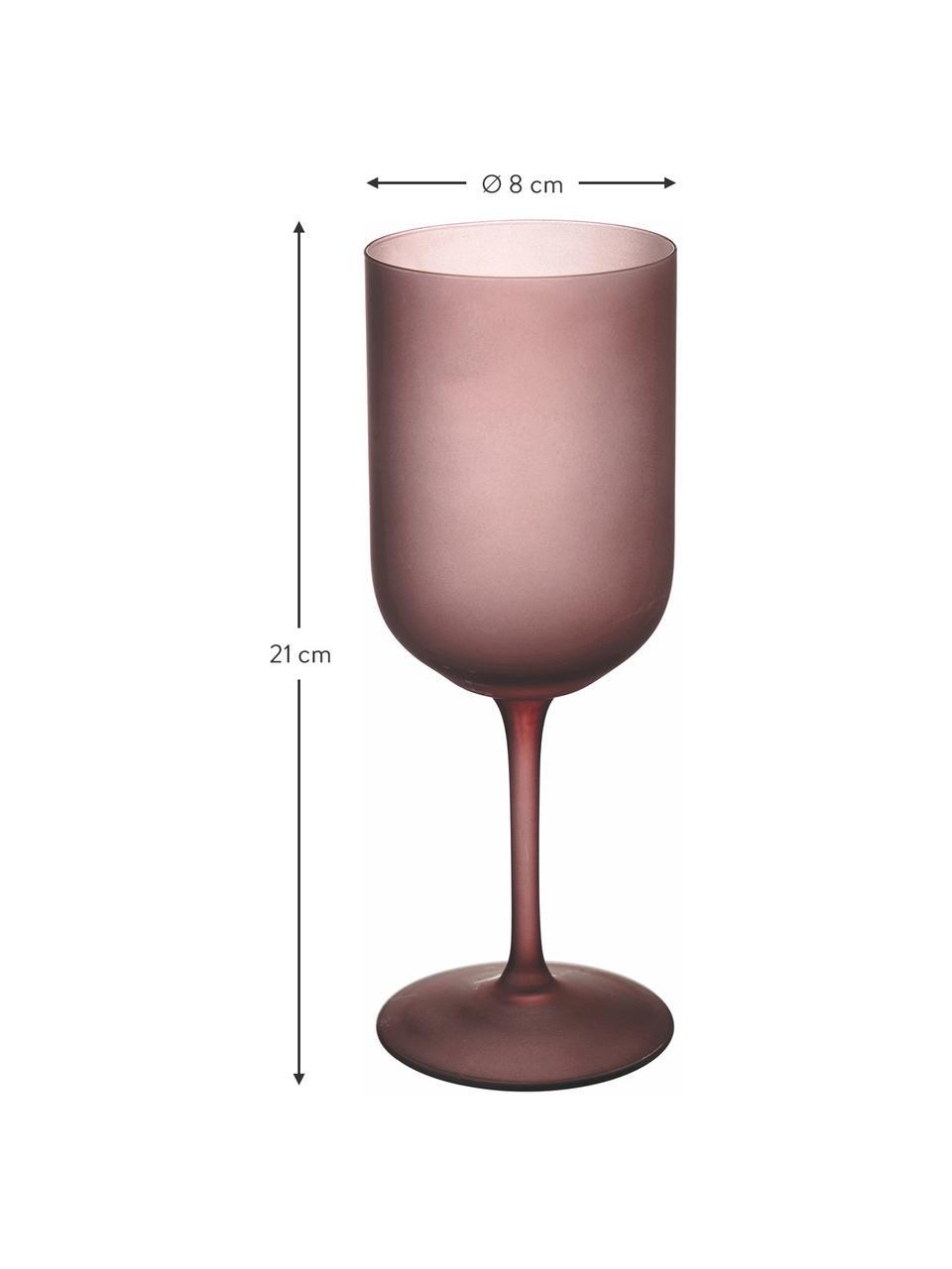 Set 6 bicchieri vino Oslo, Vetro, Bianco, nero, rosa, Ø 8 x Alt. 21 cm