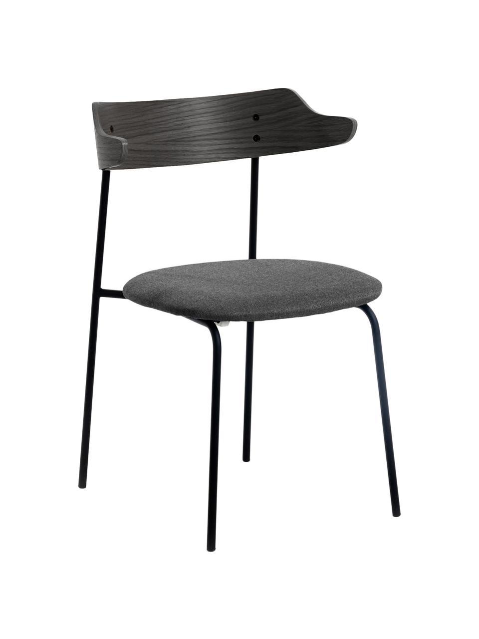 Krzesło tapicerowane Olympia, 2 szt., Czarny, S 52 x G 49 cm