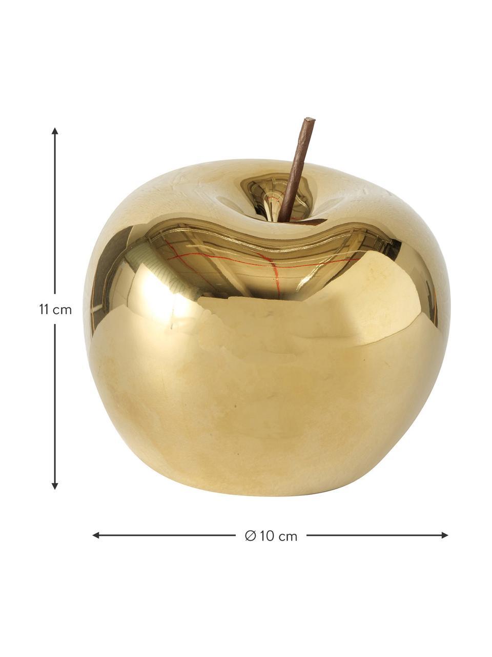 Deko-Objekt Nesta, Porzellan, Goldfarben, Ø 15 cm
