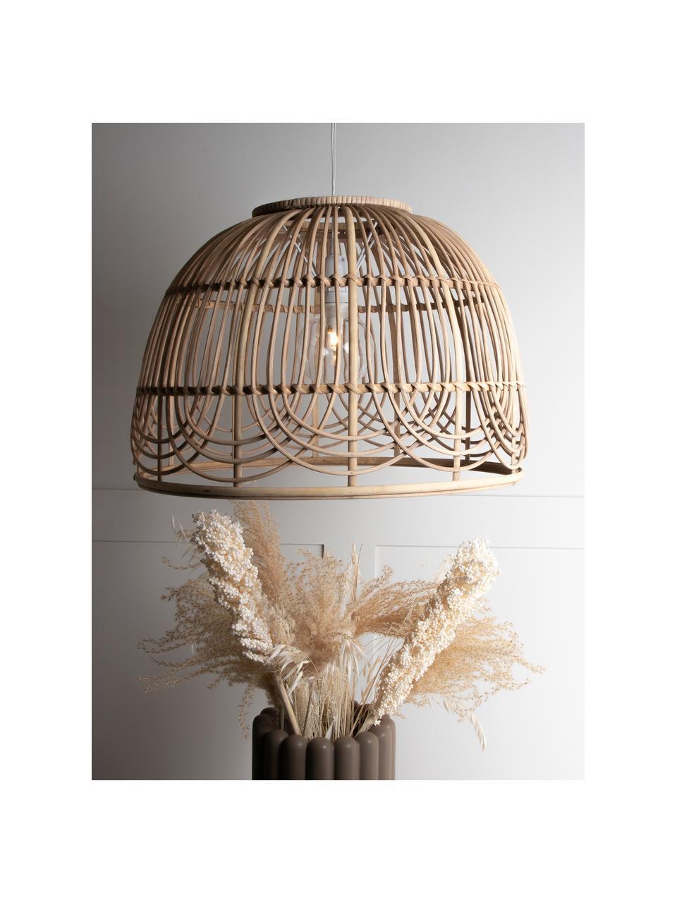 Lampa wisząca z rattanu Bahama, Rattan, Ø 35 x W 24 cm
