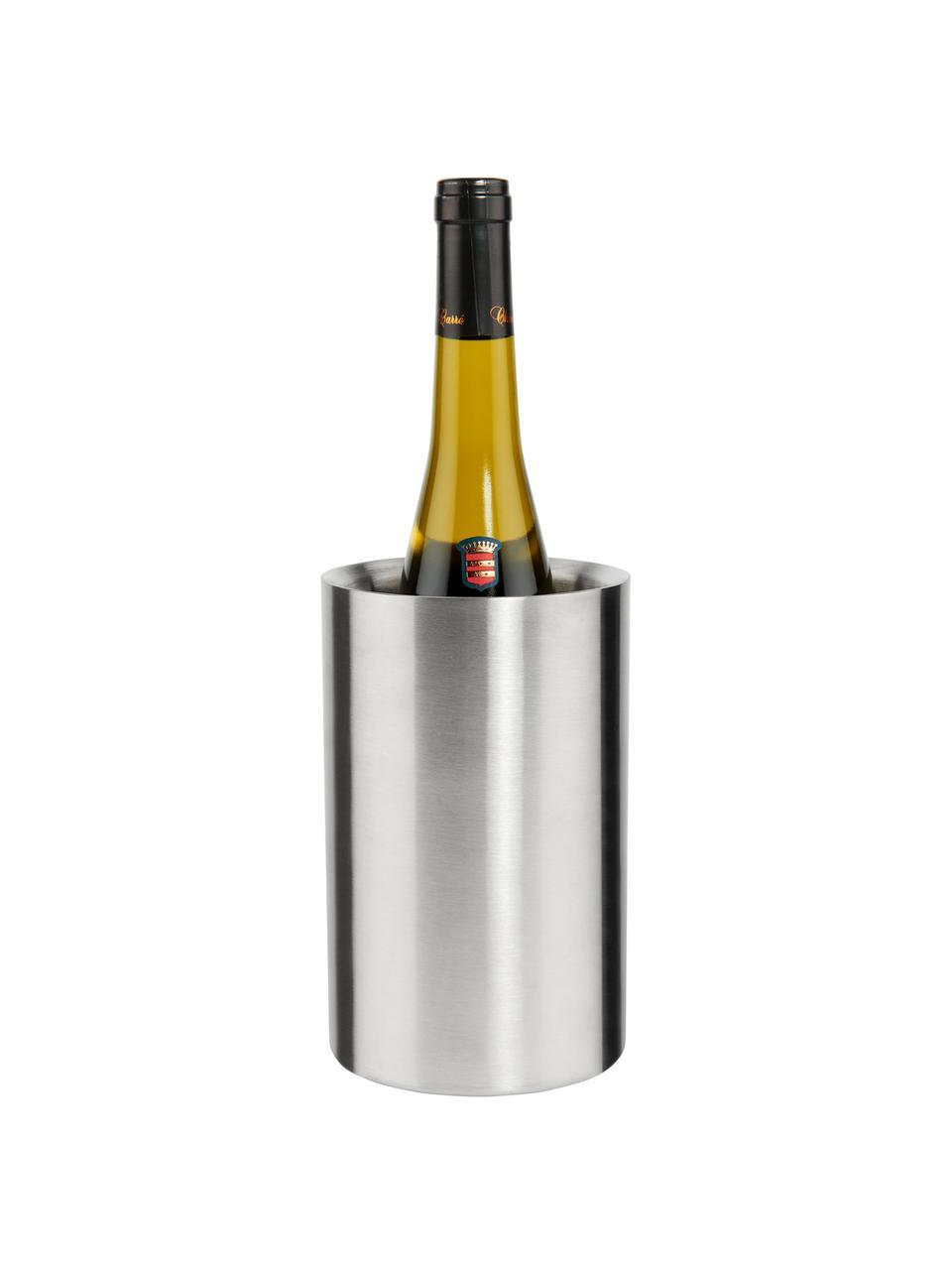Klassischer Flaschenkühler The Cooler aus Edelstahl, Edelstahl, Edelstahl, Ø 12 x H 19 cm