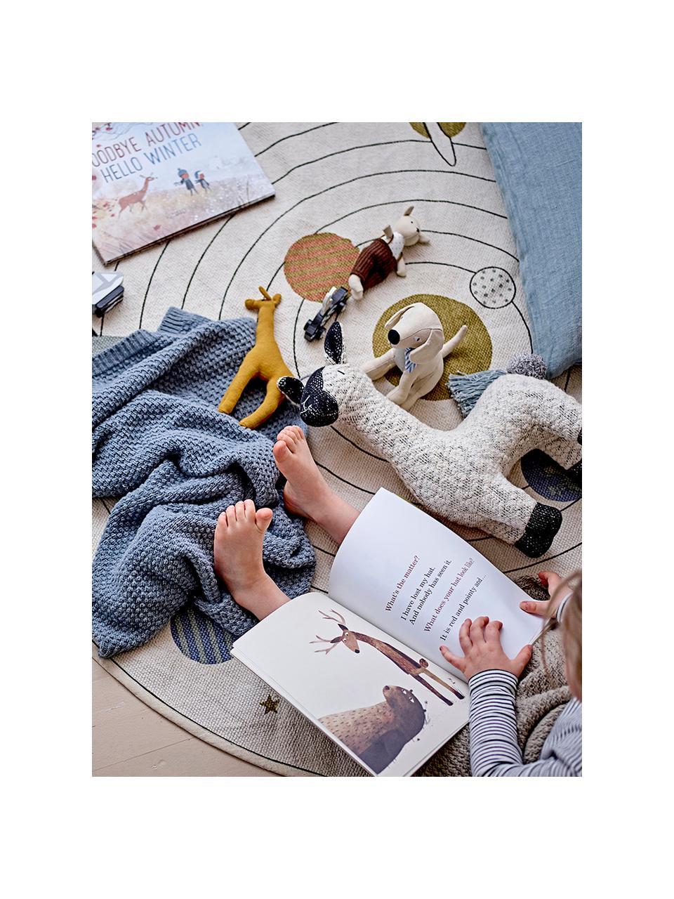 Okrągły dywan Space, 98% bawełna, 2% włókna mieszane, Beżowy, wielobarwny, Ø 130 cm (Rozmiar S)