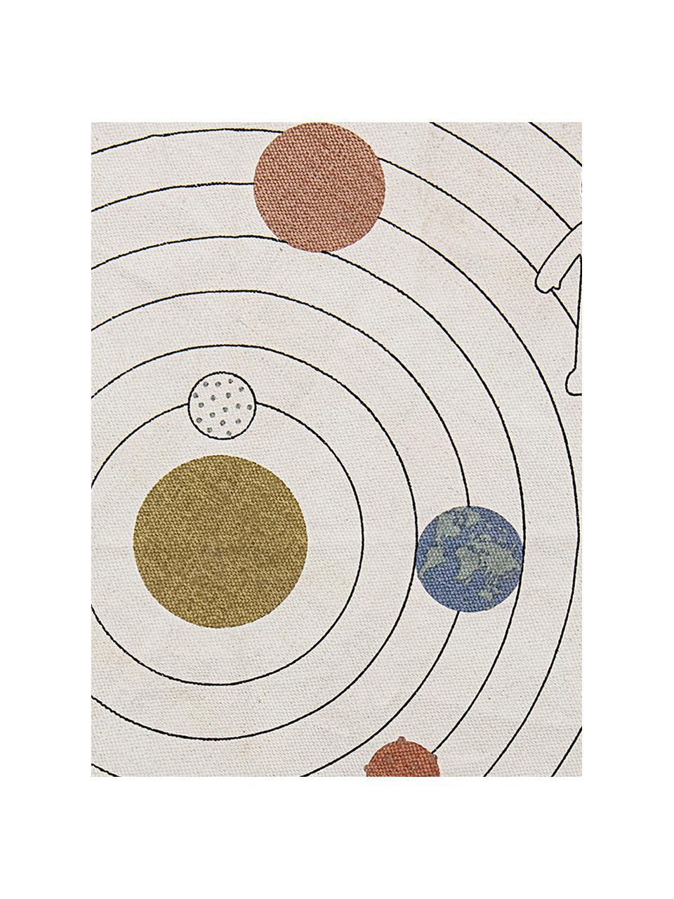 Tappeto rotondo Space, 98% cotone, 2% fibre miste, Beige, multicolore, Ø 130 cm (taglia S)