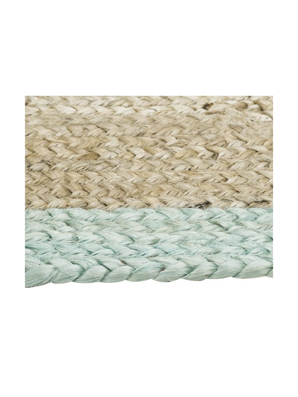 Tappeto in juta tessuto a mano Shanta, 100% juta, Juta, verde menta, Larg. 160 x Lung. 230 cm
