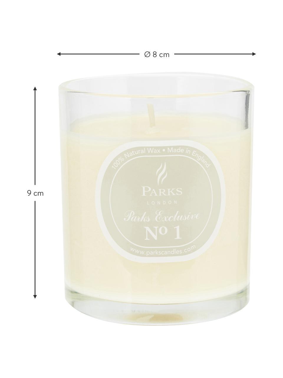 Duftkerze Exclusive No 1 (Sandelholz & Vanille), Behälter: Milchglas, Sandelholz & Vanille, Ø 8 x H 9 cm