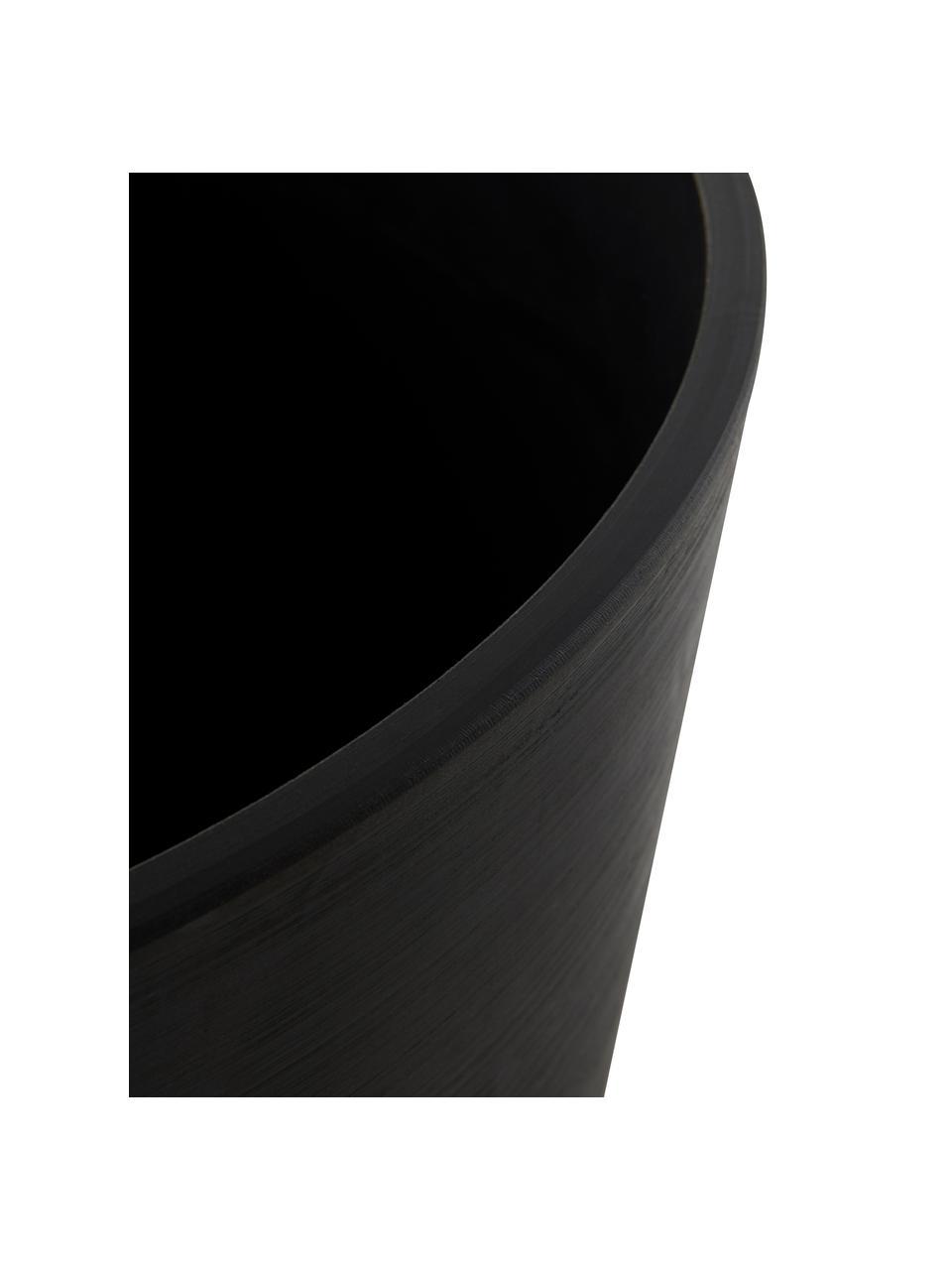 Großer Blumentopf Malcolm, Kunststoff, Schwarz, Ø 41 x H 34 cm