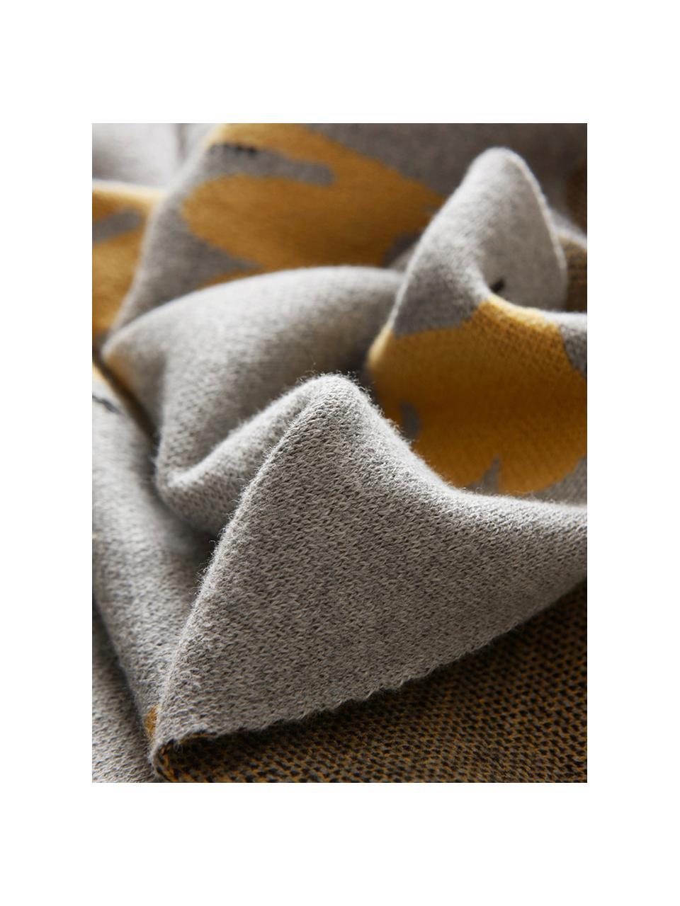 Baby-Kuscheldecke Luz aus Bio-Baumwolle, 100% Biobaumwolle, Grau, Orange, 80 x 100 cm