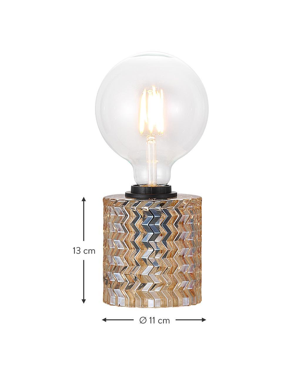 Lampada da tavolo in vetro Hollywood, Base della lampada: vetro, Oro, Ø 11 x Alt. 13 cm