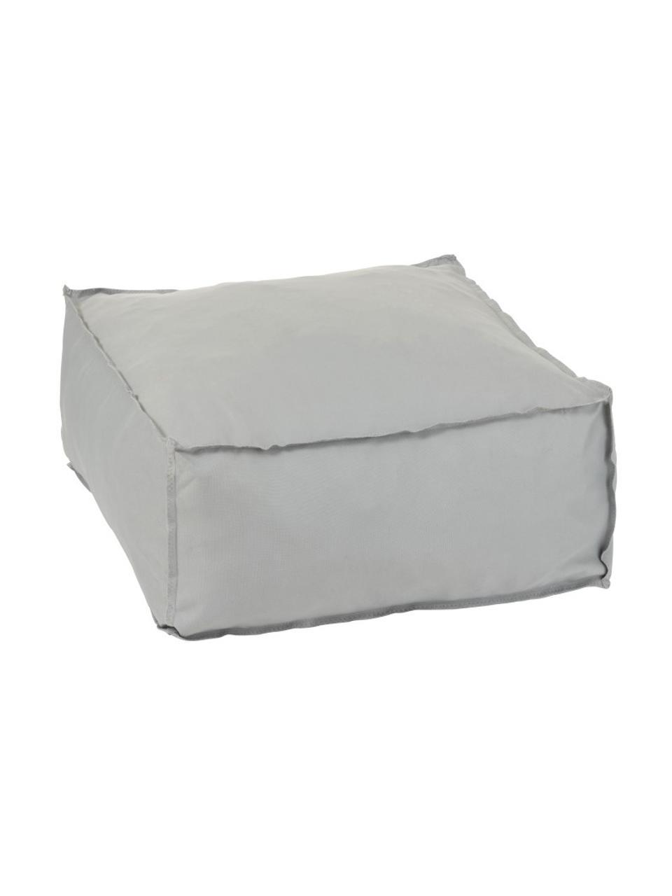 Pouf Square, Bezug: 100% Polyester, Grau, 60 x 28 cm