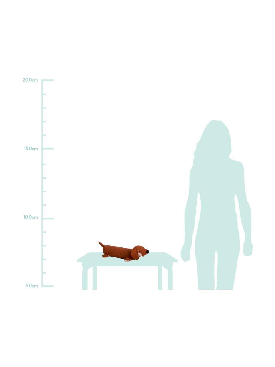 Kuscheltier Lazy Puppy aus Bio-Baumwolle, Braun, 50 x 10 cm