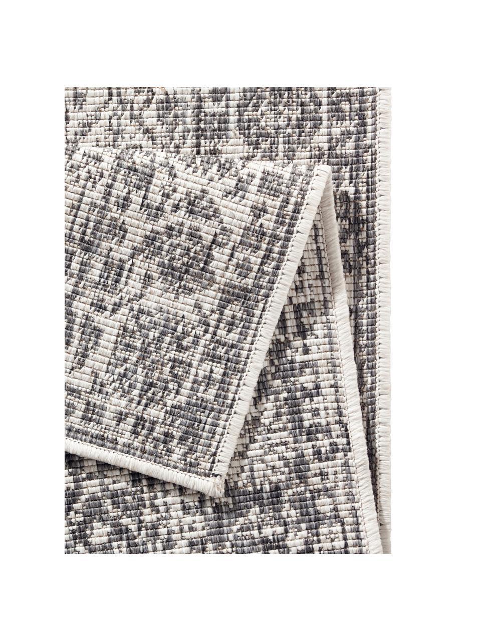 Tappeto vintage reversibile da interno-esterno Curacao, Grigio, color crema, Larg. 80 x Lung. 150 cm (taglia XS)