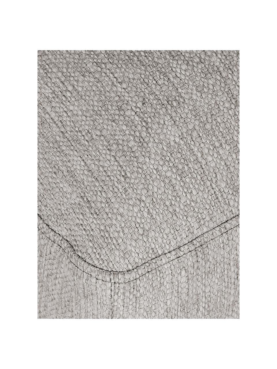 Sofa-Hocker Tribeca in Beigegrau, Bezug: Polyester Der hochwertige, Gestell: Massives Kiefernholz, Füße: Massives Buchenholz, lack, Webstoff Beigegrau, 80 x 40 cm