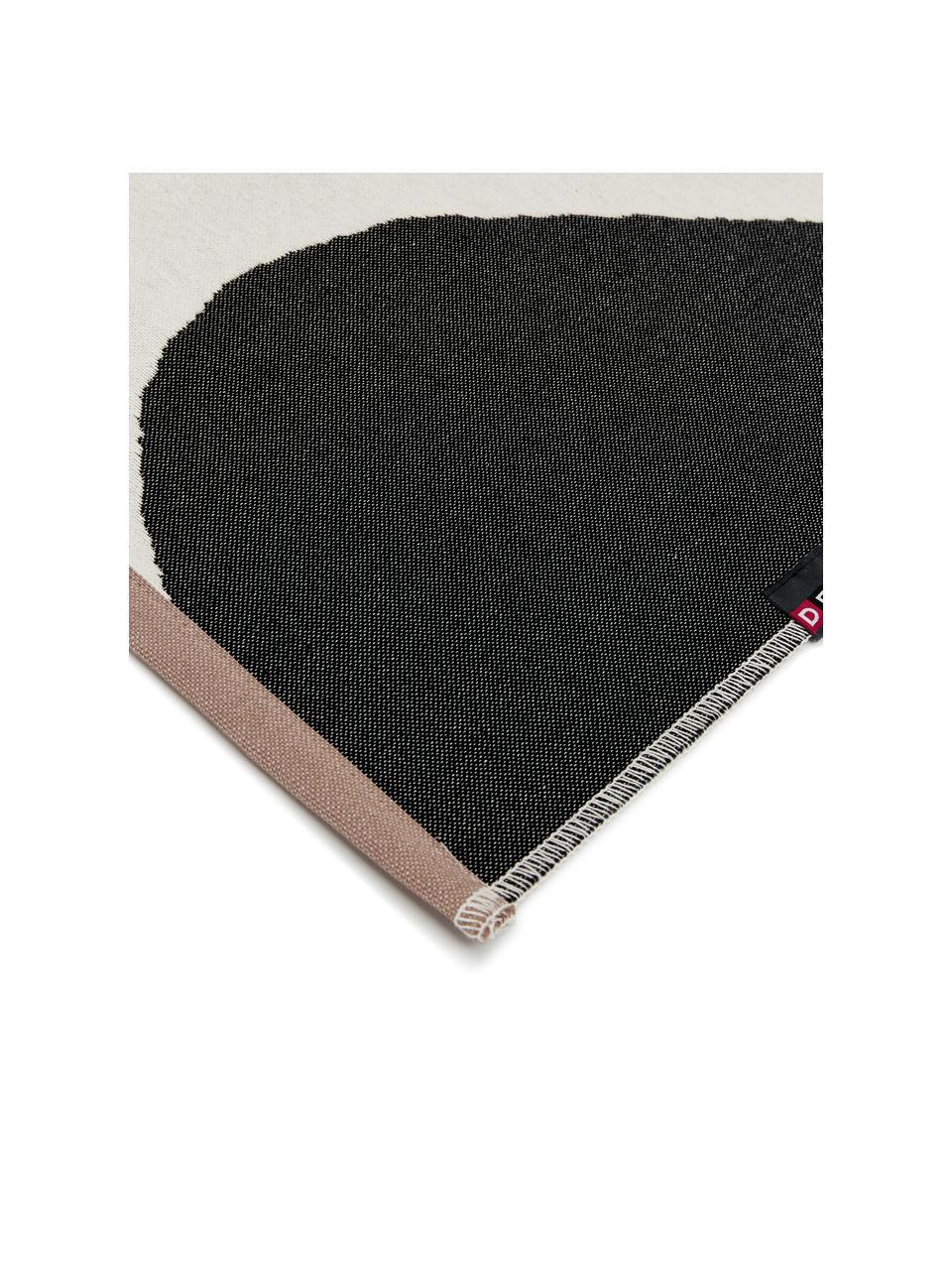 Teppich Goliath mit abstrakten Kreisen, Recycelte Baumwolle, Mehrfarbig, B 75 x L 120 cm (Größe XS)