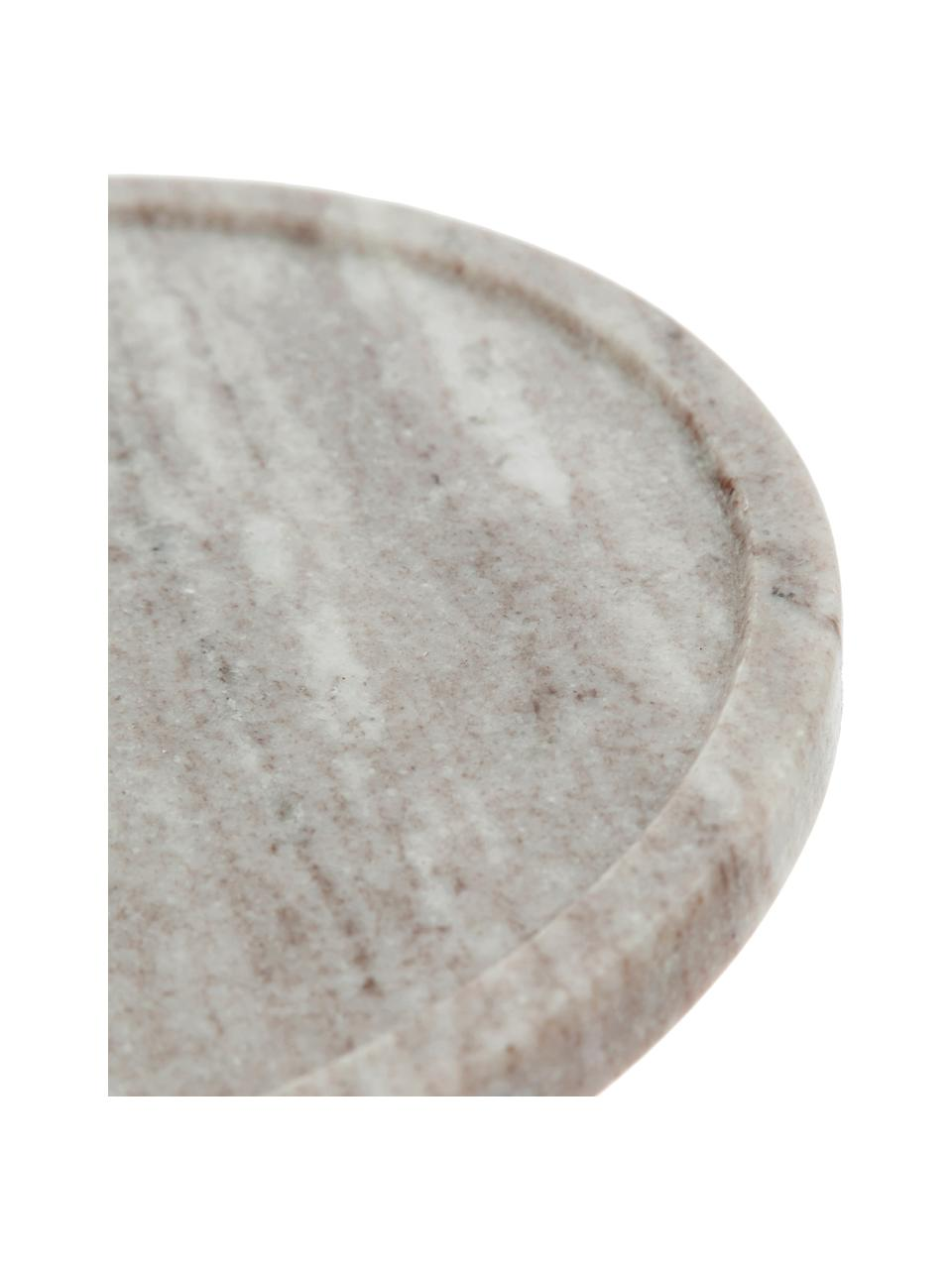Campana quesera de mármol Cheese, Campana: vidrio, Beige, transparente, Ø 25 x Al 14 cm