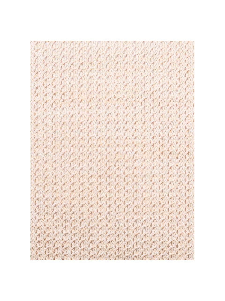 Housse de coussin 45x45 jute Tally, Blanc, beige