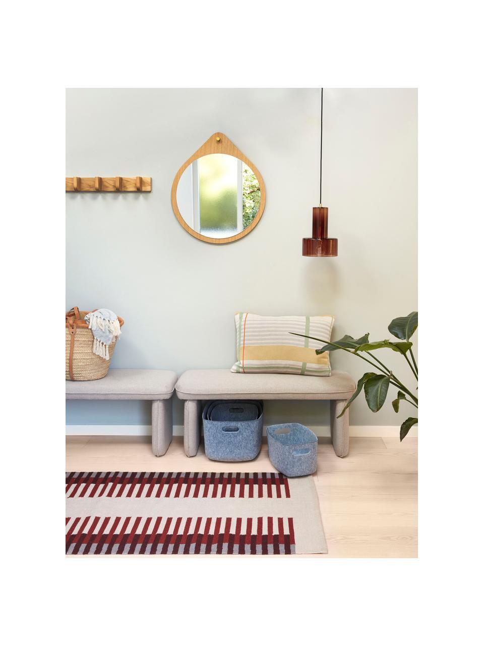 Mała lampa wisząca ze szkła Flowy, Brązowy, transparentny, Ø 20 x W 27 cm