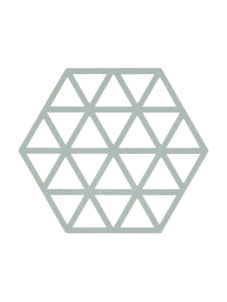 Silikon Topfuntersetzer Triangle in Pastellblau, 2 Stück, Silikon, Pastellblau, B 14 x T 16 cm