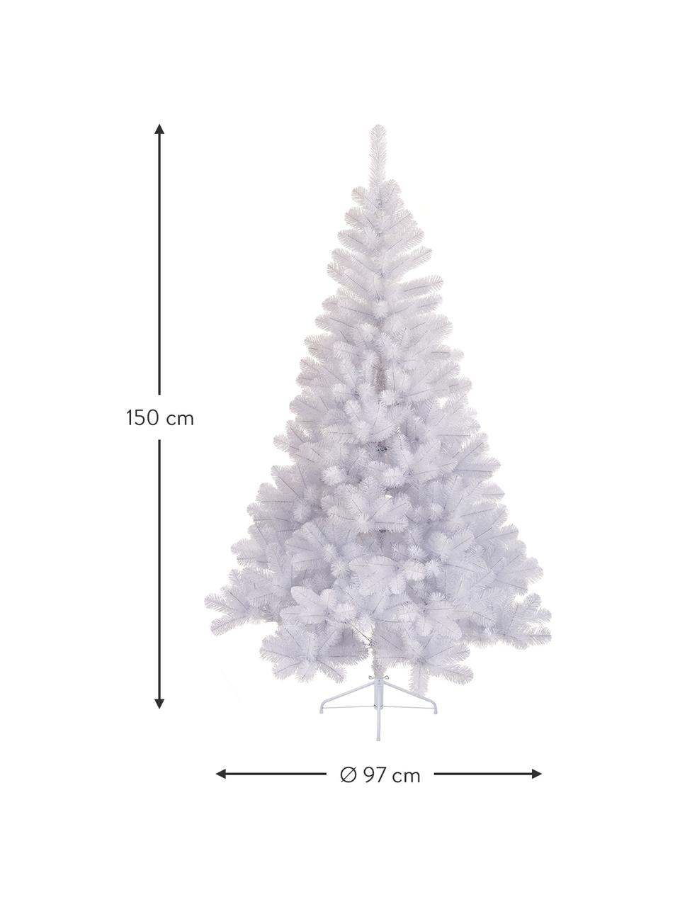 Künstlicher Weihnachtsbaum Imperial, Weiß, Ø 97 x H 150 cm