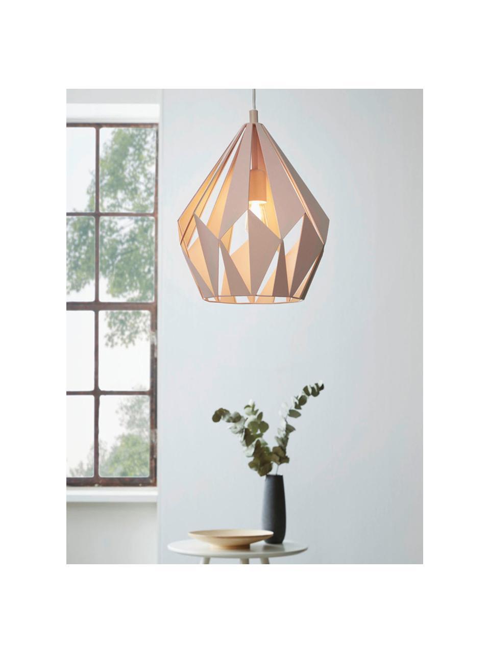 Scandi hanglamp Carlton, Abrikooskleurig, Ø 31  x H 40 cm