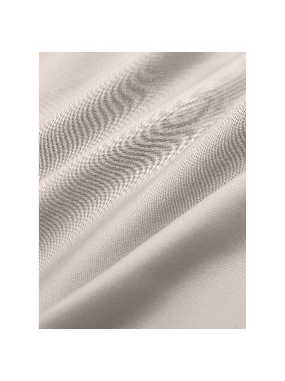 Satin-Bettwäsche Premium aus Bio-Baumwolle in Taupe mit Stehsaum, Webart: Satin Fadendichte 400 TC,, Taupe, 135 x 200 cm + 1 Kissen 80 x 80 cm