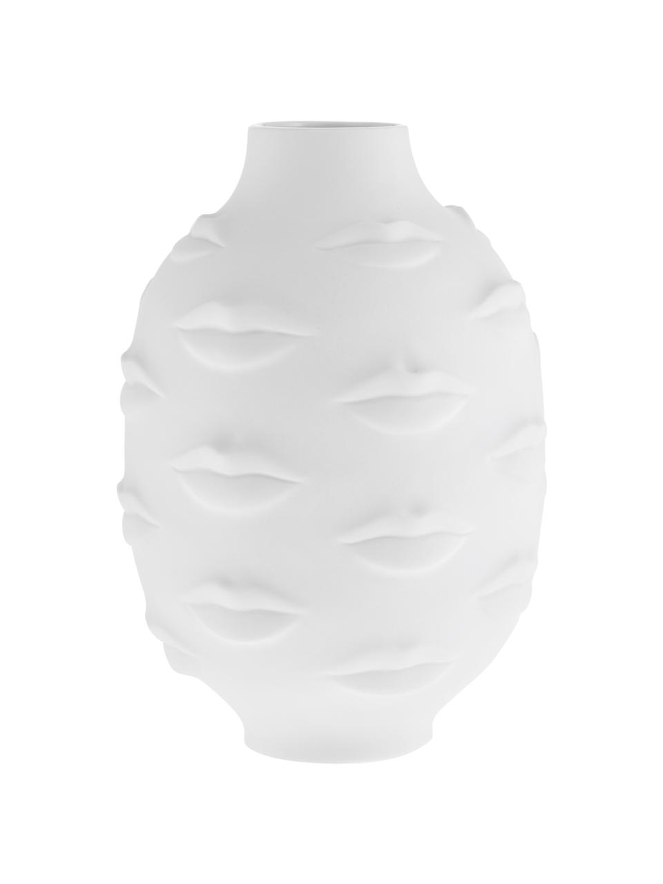 Wazon z porcelany Gala, Porcelana, Biały, Ø 15 x W 25 cm
