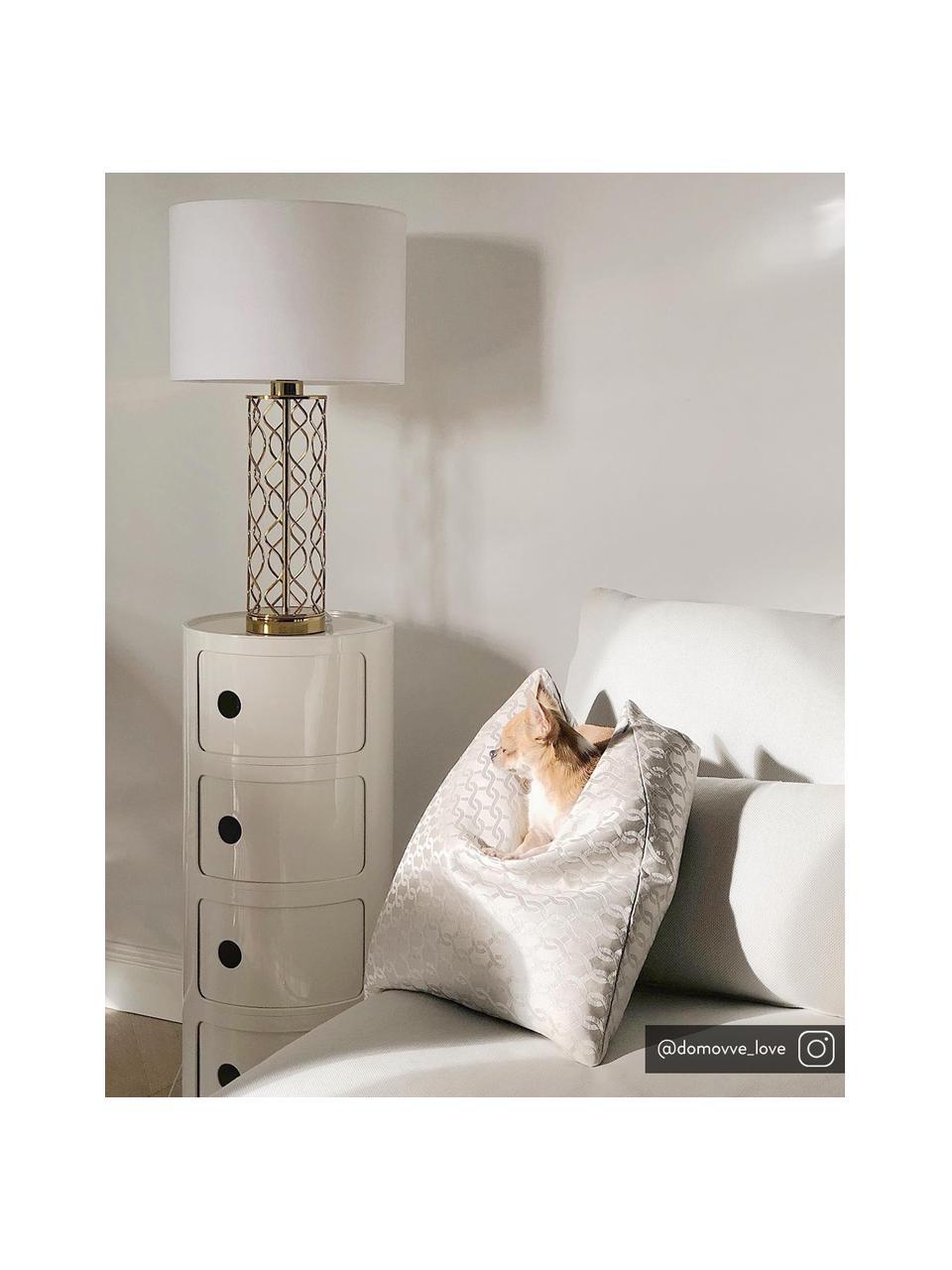 Table d'appoint design 4 compartiments Componibile, Blanc