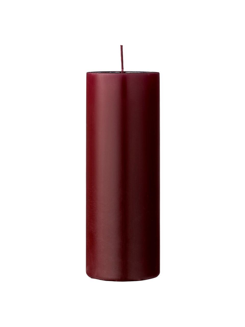 Bougie décorative rouge Lulu, Lie de vin