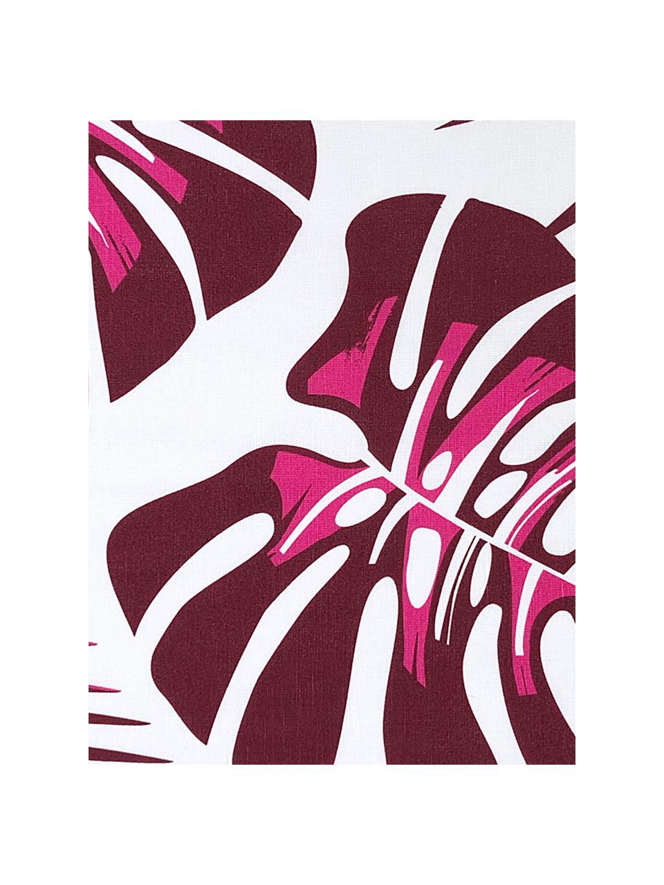 Ręcznik kuchenny Urban Jungle, 2 szt., 50% len, 50% bawełna, Biały, bordowy, S 50 x D 70 cm