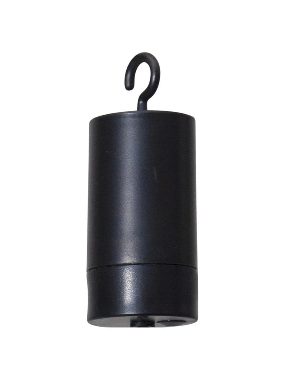 Mobilna lampa wisząca z timerem Bowl, Transparentny, czarny, S 13 x W 18 cm