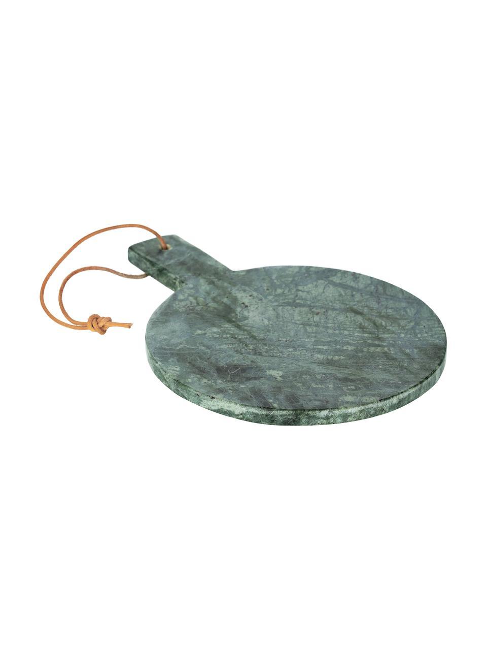Marmeren snijplank Tresa met ophanglus, L 30 x B 22 cm, Ophanglus: buffelleer, Gemarmerd groen, 22 x 30 cm