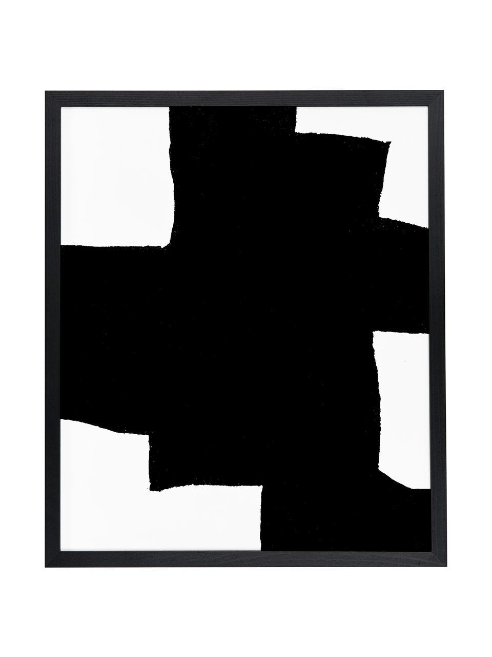 Gerahmter Digitaldruck From Above, Bild: Digitaldruck auf Papier, , Rahmen: Buchenholz, lackiert, Front: Plexiglas, Schwarz, Weiß, 53 x 63 cm