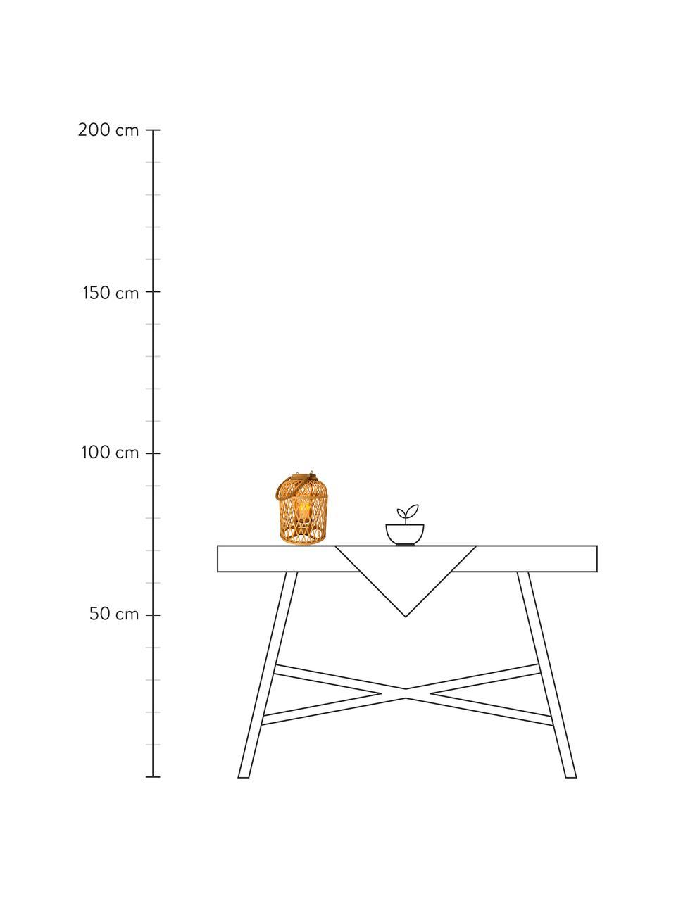 Lampa solarna LED Korab, Brązowy, Ø 27 x W 38 cm
