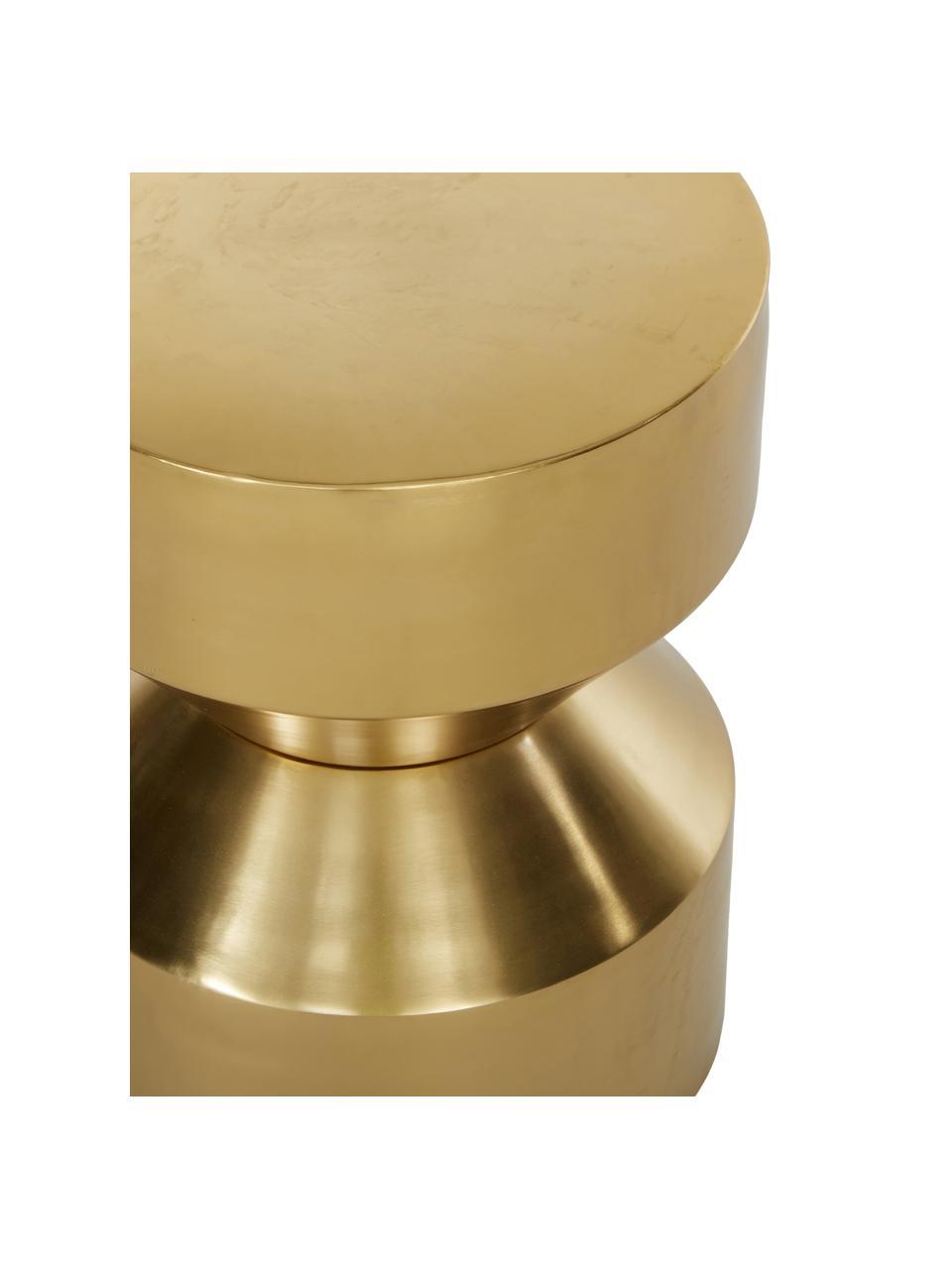 Bijzettafel Juliana, Gecoat metaal, Goudkleurig, licht glanzend, Ø 36 x H 45 cm