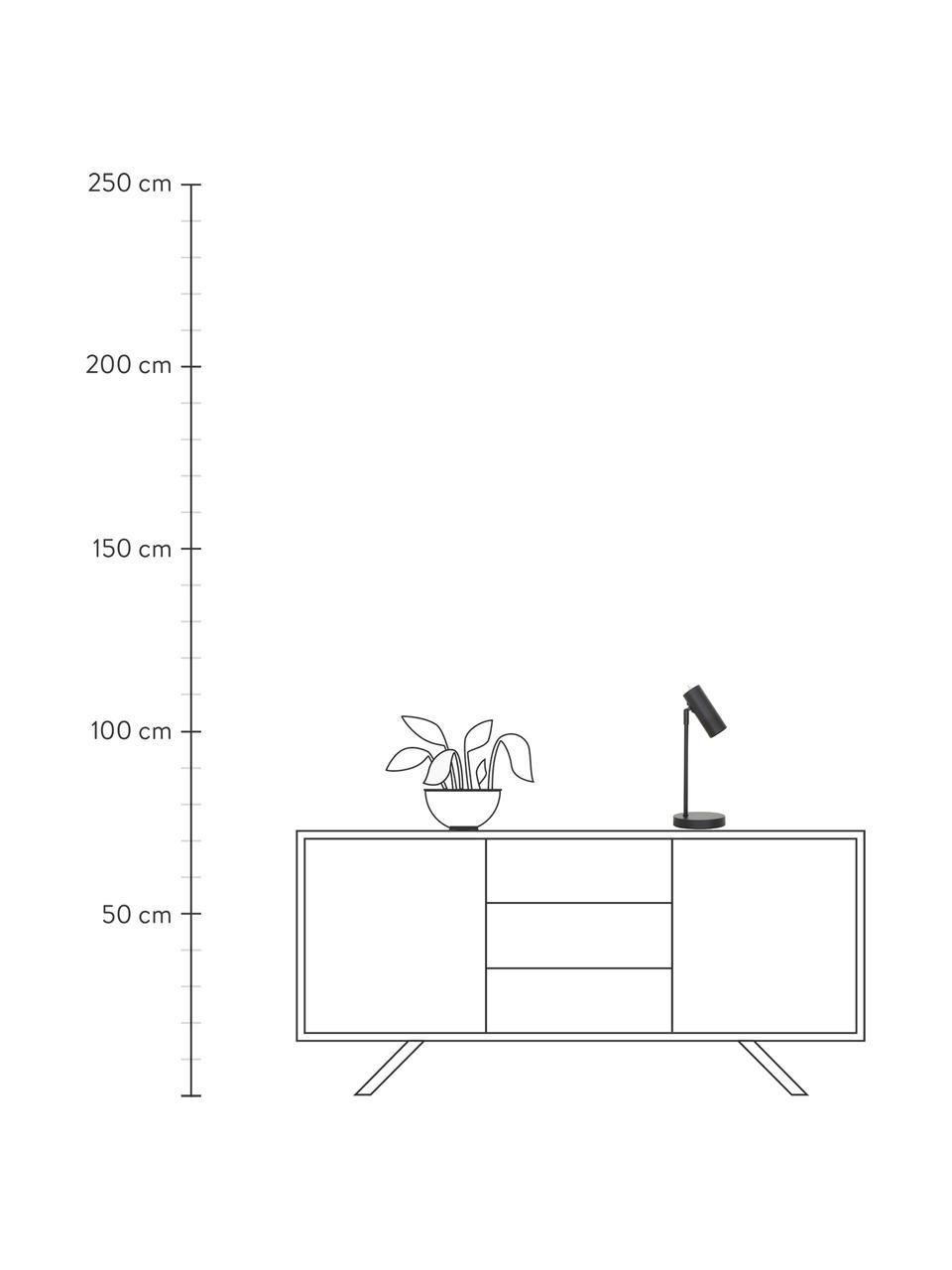 Lampa biurkowa z metalu Cassandra, Klosz: czarny, matowy Podstawa lampy: czarny, matowy Kabel: czarny, Ø 15 x W 40 cm