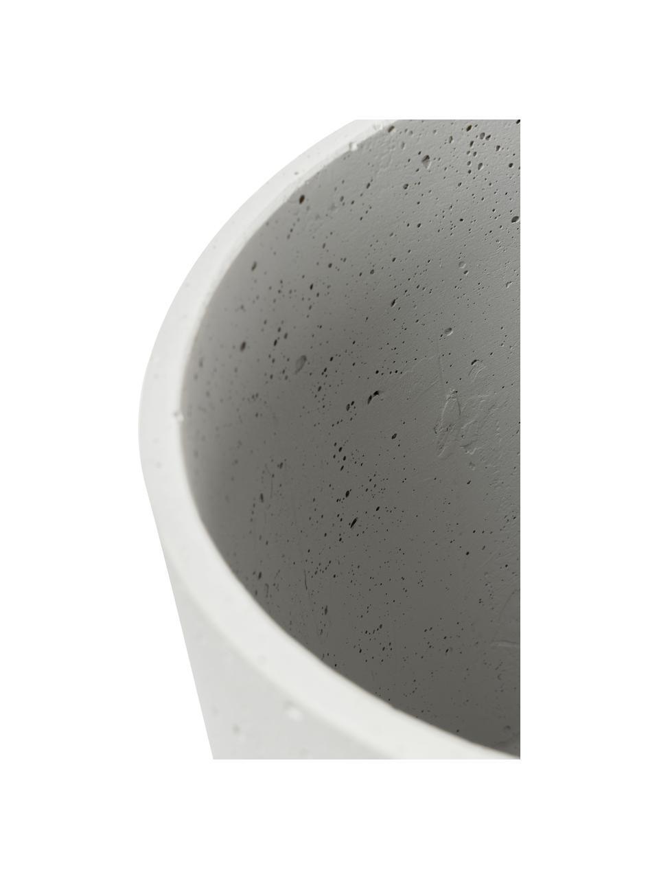 Komplet doniczek z betonu Kawanti, 2 szt., Beton, Jasny szary, Komplet z różnymi rozmiarami