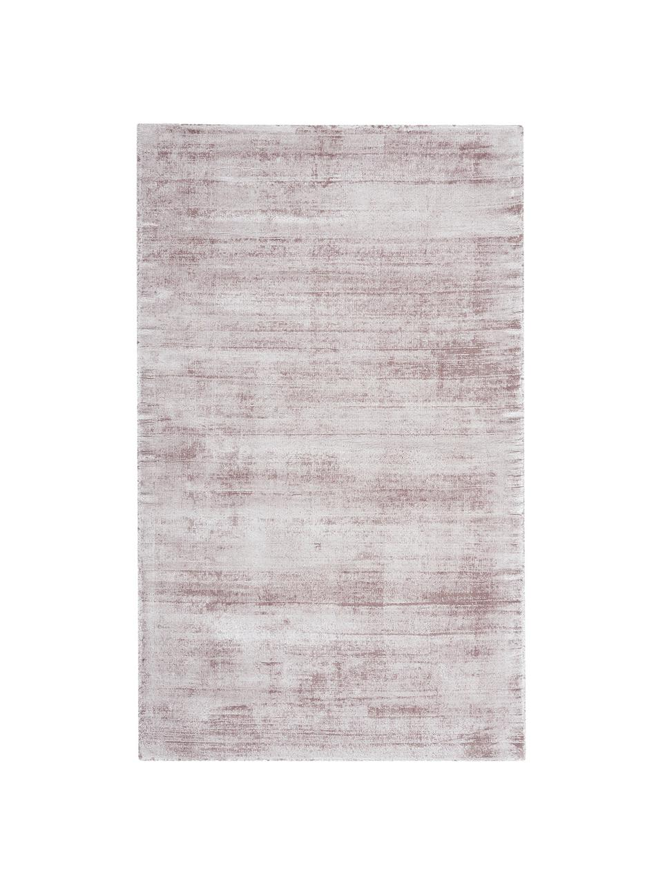 Tappeto in viscosa lilla tessuto a mano Jane, Retro: 100% cotone, Lilla, Larg. 160 x Lung. 230 cm  (taglia M)