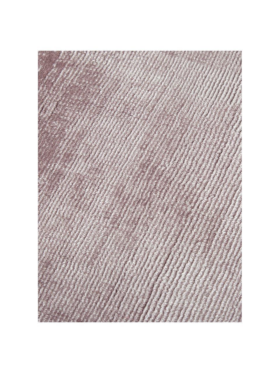 Ručně tkaný viskózový koberec Jane, Šeříková