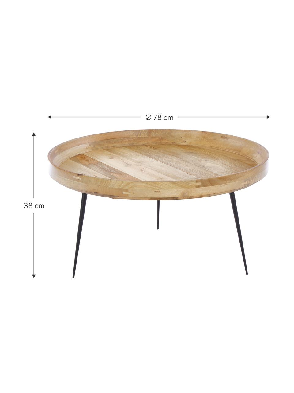 Table basse design en manguier Bowl Table, Brun