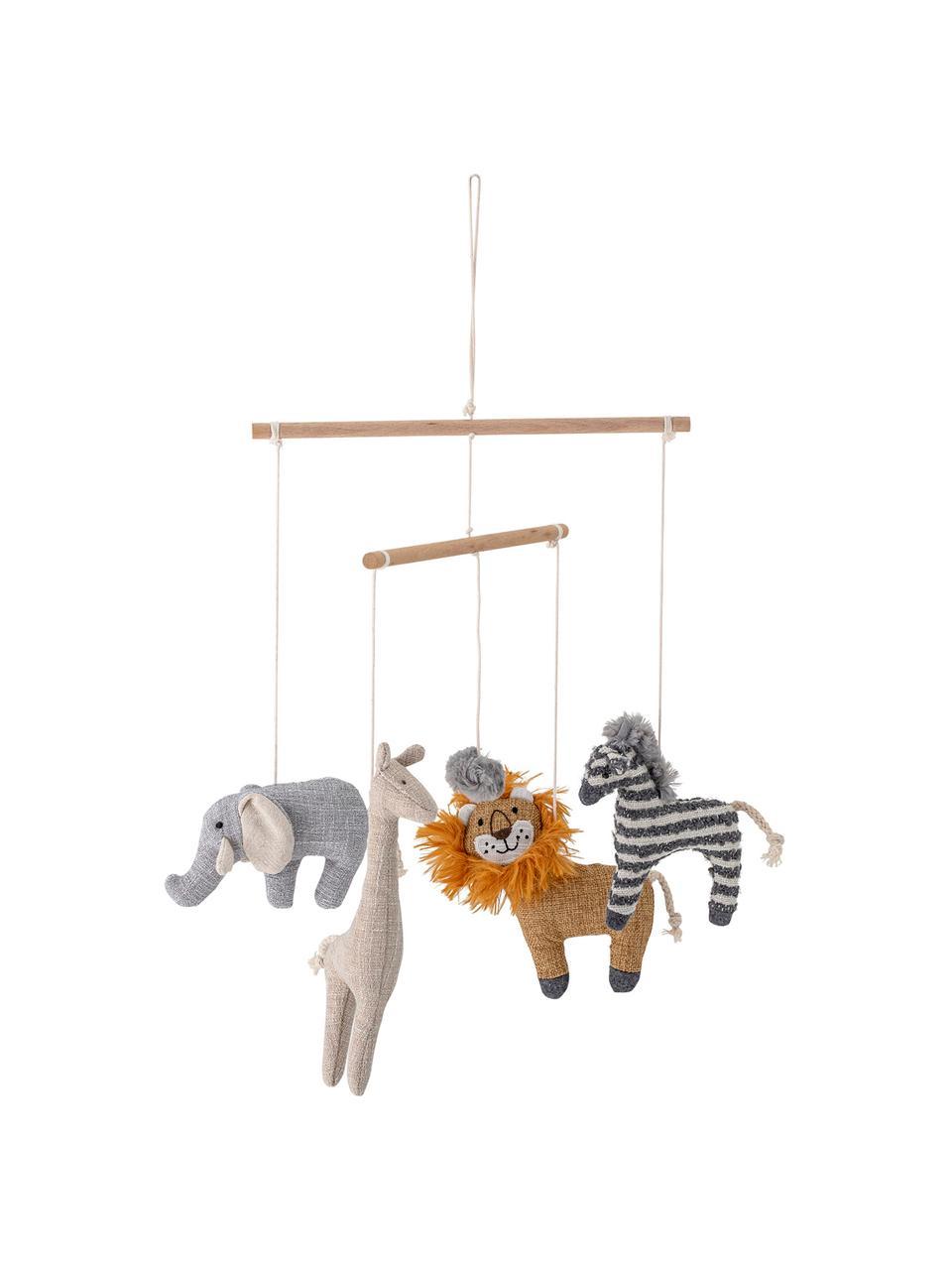 Babymobile Animals, Gestell: Birkenholz, Mehrfarbig, Ø 26 x H 31 cm