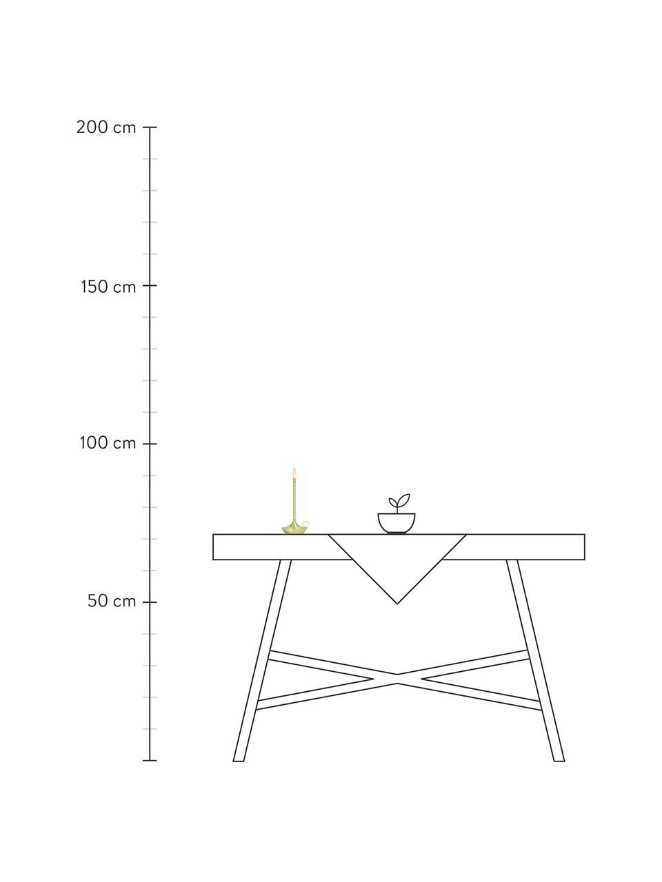 Kleine Mobile Dimmbare Tischlampe Wick mit Touchfunktion, Lampenfuß: Aluminium, recycelt und b, Lampenschirm: Kunststoff, Messingfarben, Ø 12 x H 26 cm