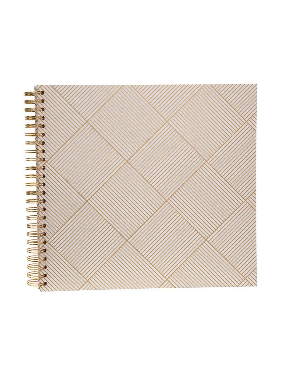 Album fotografico Picture, Dorato , bianco, L 35 x A 32 cm