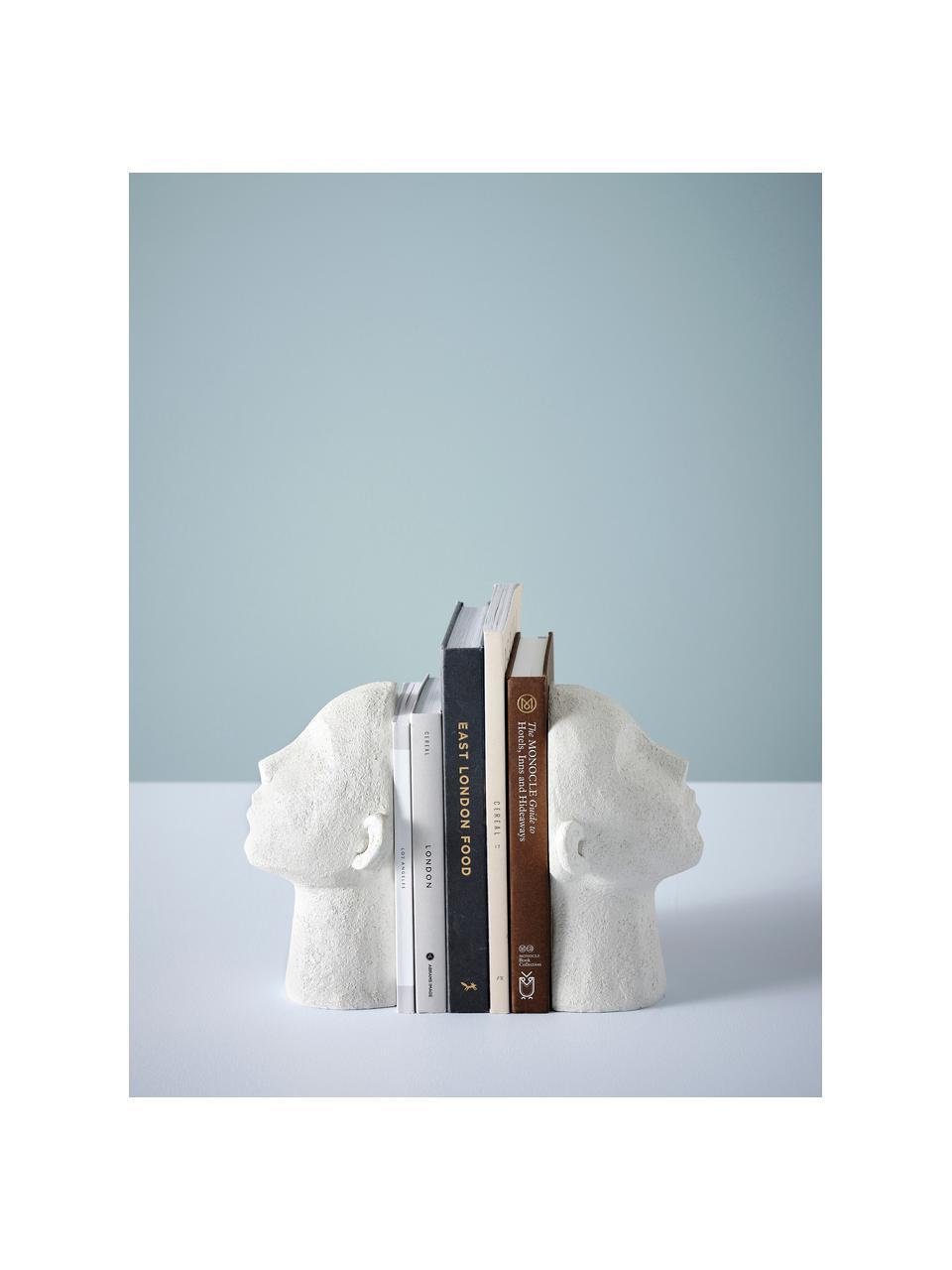 Boekensteunenset Stargazing, 2 stuks, Kunststof, Wit, 23 x 16 cm