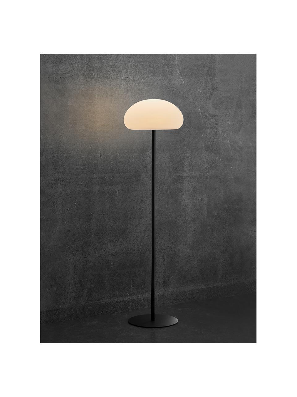 Zewnętrzna lampa mobilna z funkcją przyciemniania Sponge, Biały, czarny, Ø 34 x W 126 cm