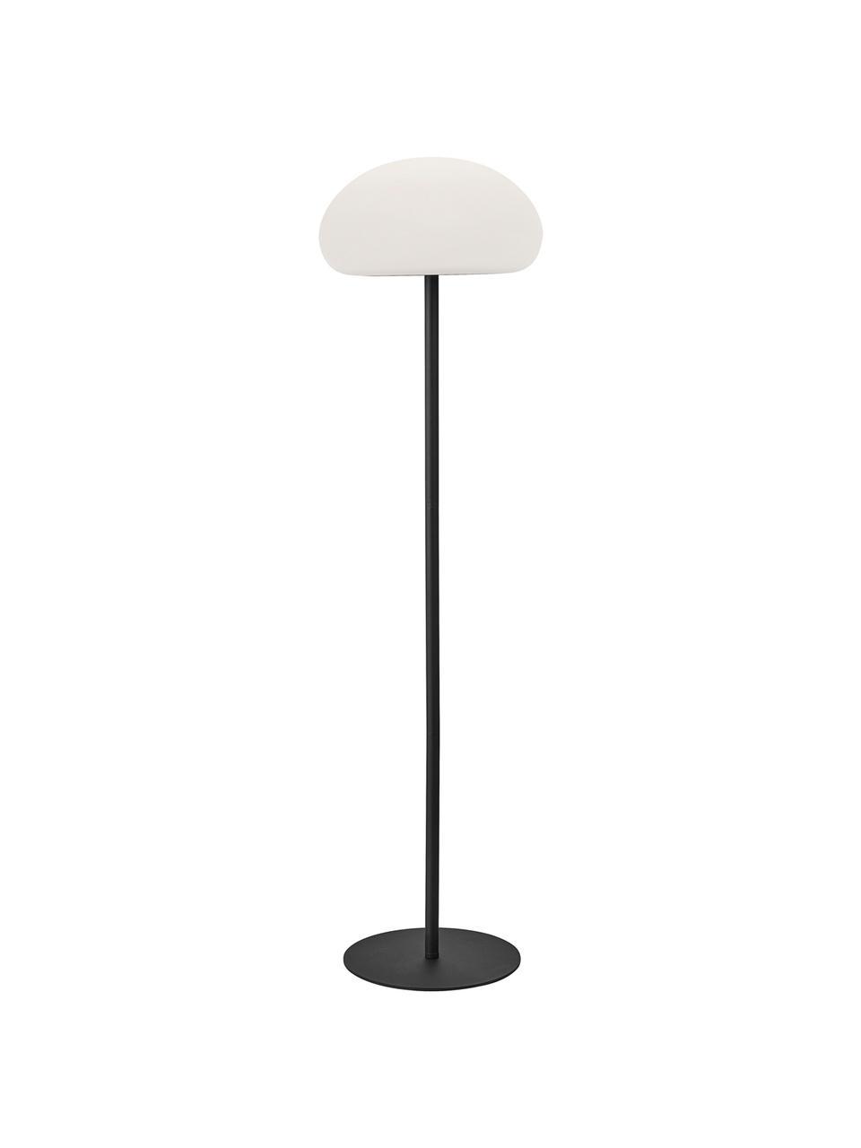 Mobile Dimmbare Outdoor Stehlampe Sponge, Lampenfuß: Kunststoff, Lampenschirm: Kunststoff, Weiß, Schwarz, Ø 34 x H 126 cm