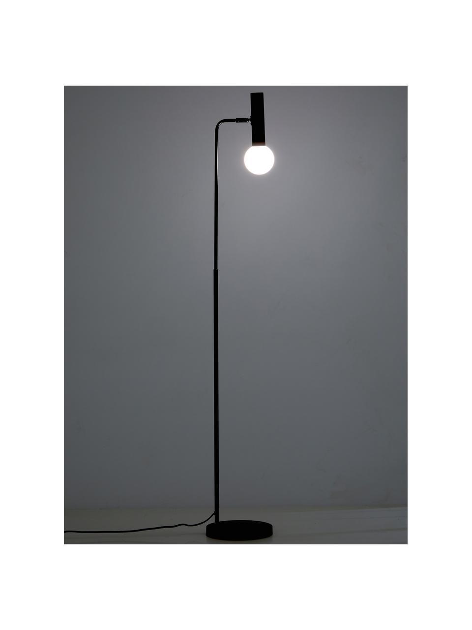 Lampa na čtení se skleněným stínidlem Wilson, Černá