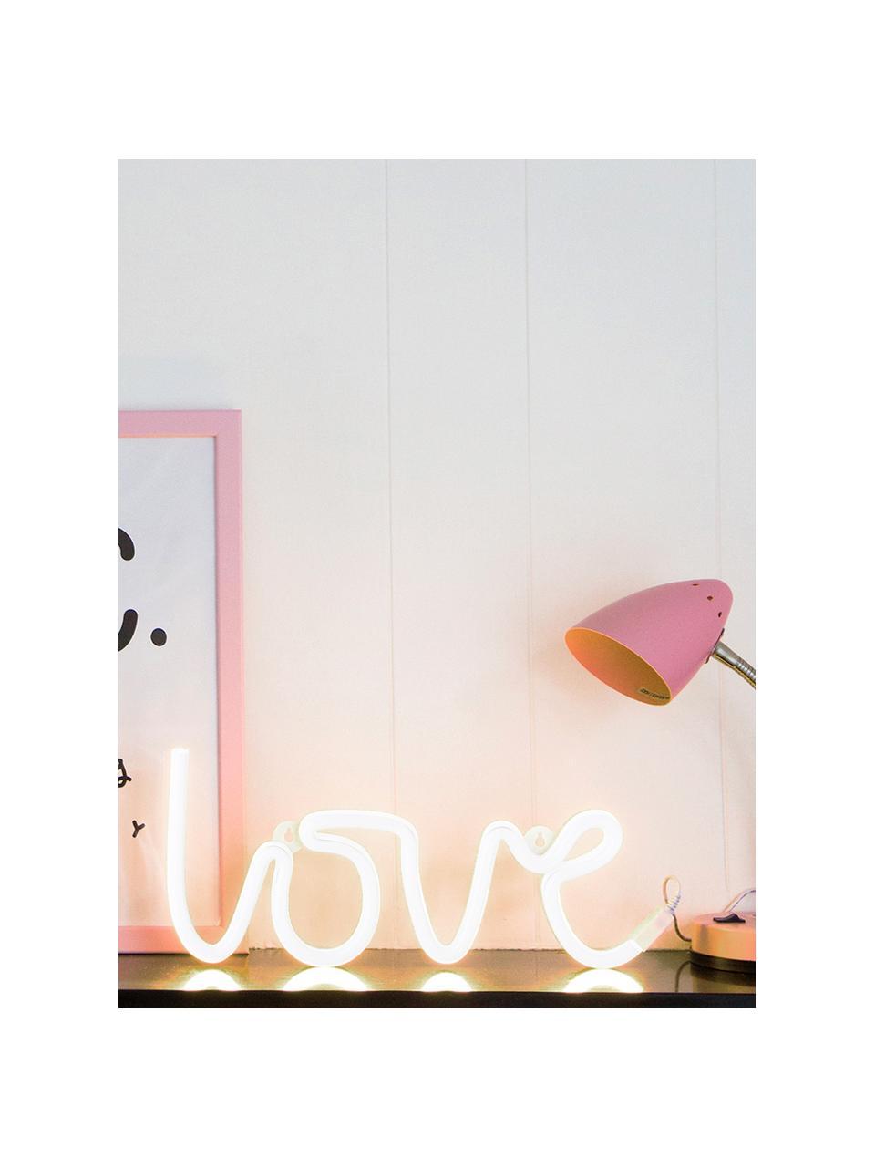 Wandleuchte Love mit Stecker, Leuchte: BPA-freier Kunststoff (PV, Lichtfarbe: Gelb<br>Im ausgeschaltenen Zustand ist die LED-Leuchte Weiß, 38 x 16 cm