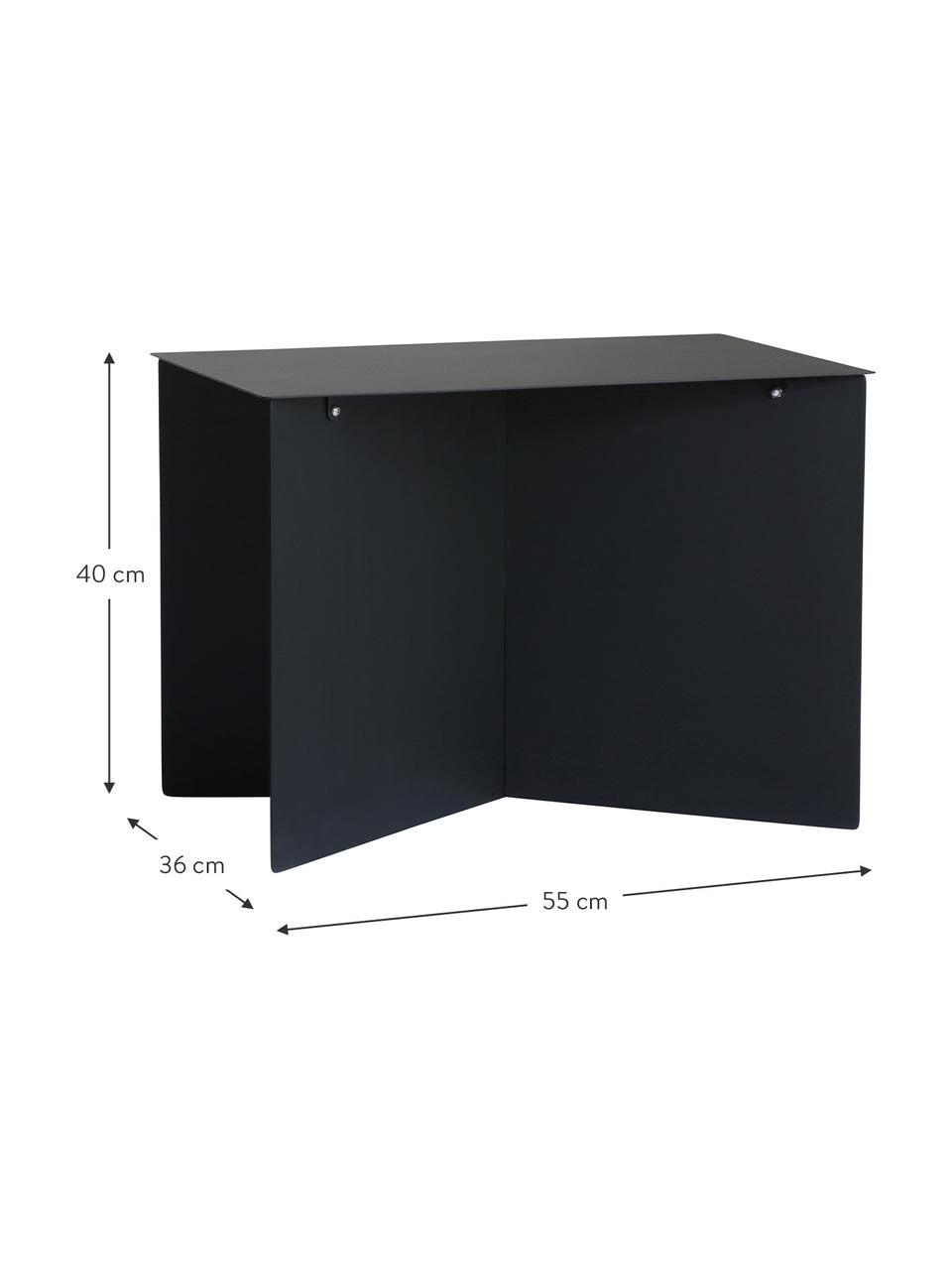 Metall-Couchtisch Dinga in Schwarz, Metall, pulverbeschichtet, Schwarz, 55 x 40 cm